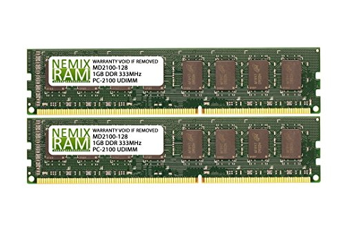 2GB (2 X 1GB) DDR 266MHz PC2100 184-pin Memory RAM DIMM for Desktop - Pin 184 Pc Memory