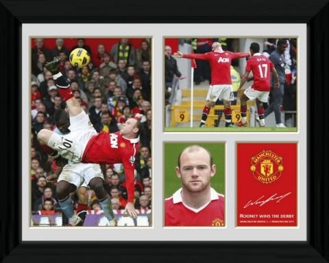 Manchester United FC - Framed Picture - Rooney Overhead Goal - 16