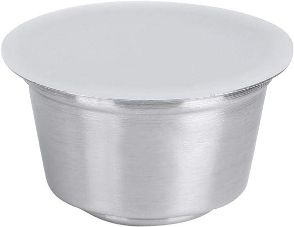 Taza de cápsula de café reutilizable, taza de cápsula de café recargable reutilizable de acero inoxidable, cápsulas de café, para cafetera Dolce Gusto(blanco): Amazon.es: Hogar