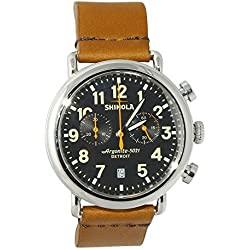 Shinola The Runwell Chrono Leather Strap Mens Watch- S0100116