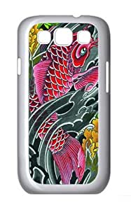 Red Koi PC Case Cover for Samsung Galaxy S3 and Samsung Galaxy I9300 White