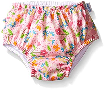i play. Classics Ultime Couche avec Volant/Bouton-Pression pour Nager Pink Spring Garden 2-3 Ans 711