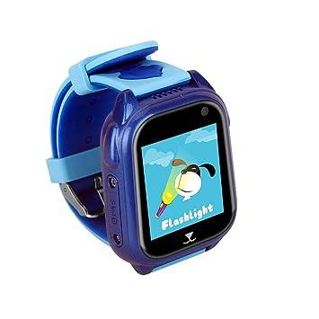 ZMH Teléfono Reloj GPS Profundidad De Posicionamiento Natación Resistente Al Agua Versión Inglesa Reloj Inteligente para Niños,Blue: Amazon.es: Deportes y ...