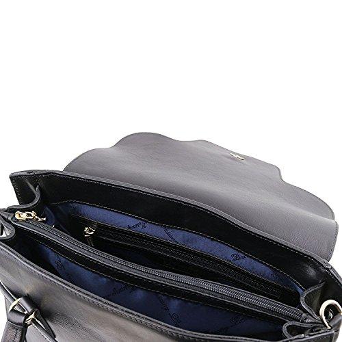 2 NeoClassic TL Noir twist à cuir avec Tuscany fermoir TL141230 en Leather Noir main Sac Ov66WHfn