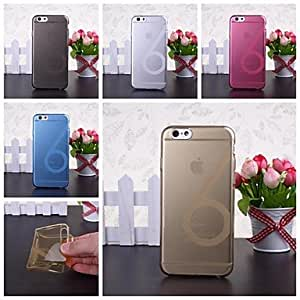 YULIN Solid Color Smooth Surface Number Six Pattern TPU Soft Case for iPhone 6(Assorted Colors) , White