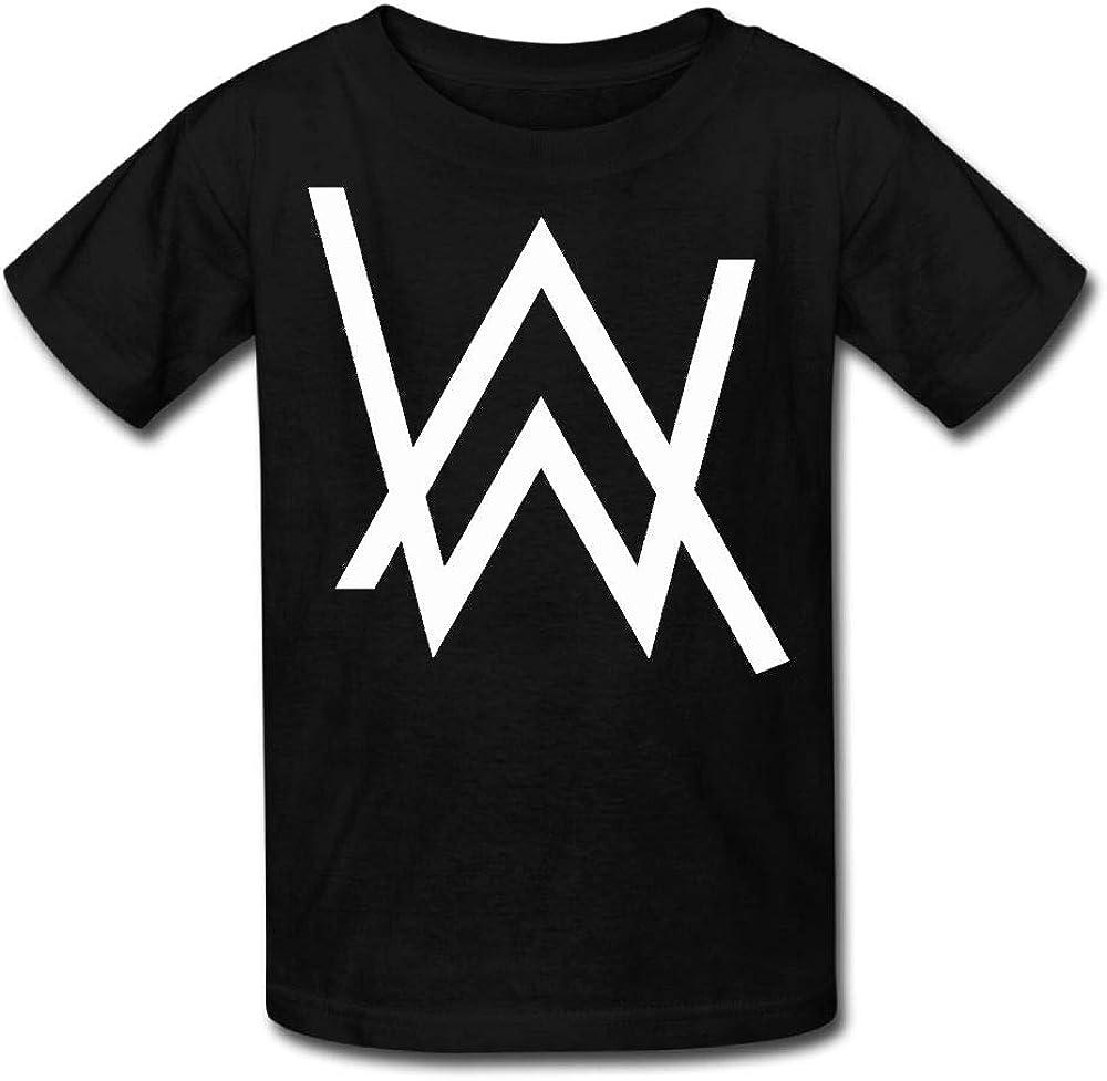 Amazon Com Teens Round Neck T Shirt Alan Walker Logo Fashion Classic Style Black S Clothing
