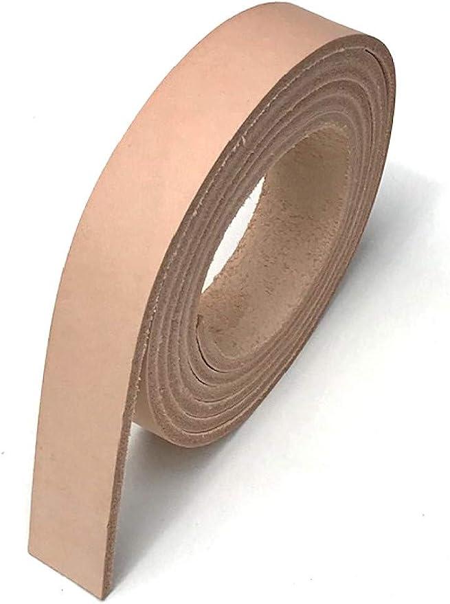 1.75 8-9 oz NATURAL Cowhide Veg Tan Tooling Leather Belt Strap for Rifle Slings Razor Strops Horse Tack Purses Belt Blank Vegetable Tanned