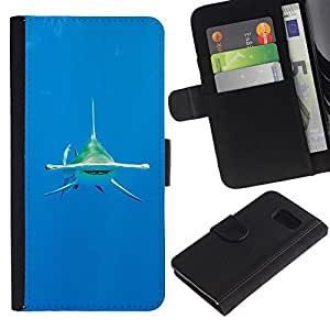 iBinBang / Flip Funda de Cuero Case Cover - Océano Tropical Mar - Samsung Galaxy S6 SM-G920