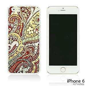 OnlineBestDigital - Flower Paintings Hardback Case for Apple iPhone 6 (4.7 inch)Smartphone - Pretty Paisley Pattern
