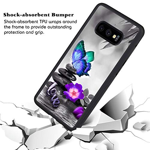 KASOS Phone Case for Samsung Galaxy S10e Case Butterfly Love Reinforced Drop Protection Hard PC Back Flexible TPU Bumper Protective Case by KASOS (Image #3)
