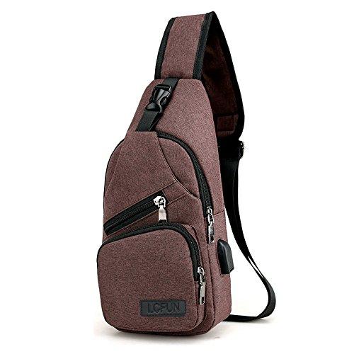 Canvas Sling Bag Shoulder Chest Cross Body Backpack
