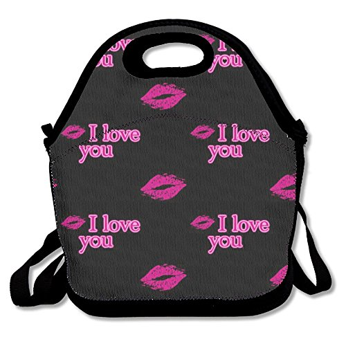 ROUTCP Lunch Boxes I Love You Lunch Tote Lunch Bags