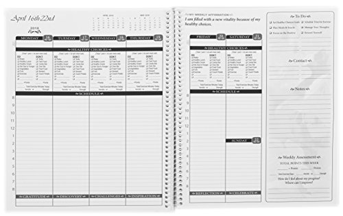 Healthy Shapely You Planner, July 2017 – June 2018 Calendar, Daily, Weekly, Monthly, Diet & Exercise Record and Assessment, All-In-One, 8.5 x 11, Spiral, 12 months.