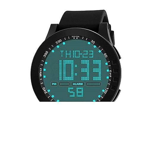 Scpink Relojes Deportivos Digitales para Hombre Impermeable Pantalla LED de Gran Cara Relojes Militares y Casual Impermeable Luminoso ejército Simple Reloj ...