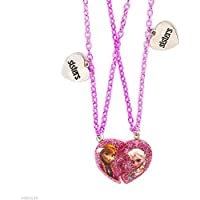 Disney Frozen Half Heart Sisters Pendant Necklaces Set of 2 Piece Heart