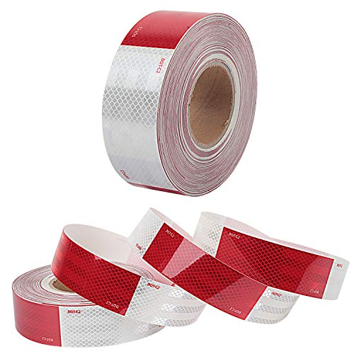 Waterproof Reflective Safety Tape Roll 2''X142' Feet Long Red White DOT C2 Auto Truck Safety Reflector Strips Self-adhesive Conspicuity Safety Hazard Caution Warning Sticker for Vehicle Car Trailer by Reliancer (Image #7)