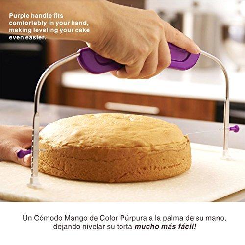 Prokitchen Lira Para Tartas Cortador de Pasteles,Tortas,Tarta de Acero Inoxidable Alambre Cortador Pequeño, Herramienta Para Horneado Profesional, ...