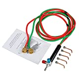 SODIAL Micro-Gas Torch Mini Gas Little Torch Welding Soldering Kit with 5 Tips Welding Soldering Gun Flexible Hosed for Small Instruments, Tools, Toys, Component and Jewelry Repairing