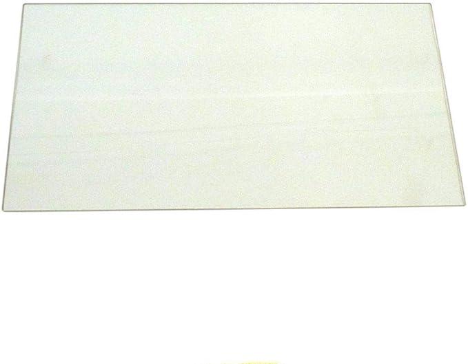 Fridge Shelf Glass Bottom Clear Glass Replacement Disc 47 x 29cm