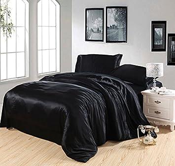 Superbe Amazon.com: Pure Enjoyment Black Luxury Bedding Silk Bedding, Queen Size:  Home U0026 Kitchen