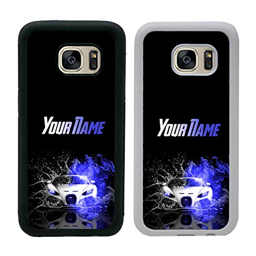 (Boy Racer Personalised Phone Case for Samsung Galaxy S7 Smartphone Custom Cover Your Name Bumper for G930)