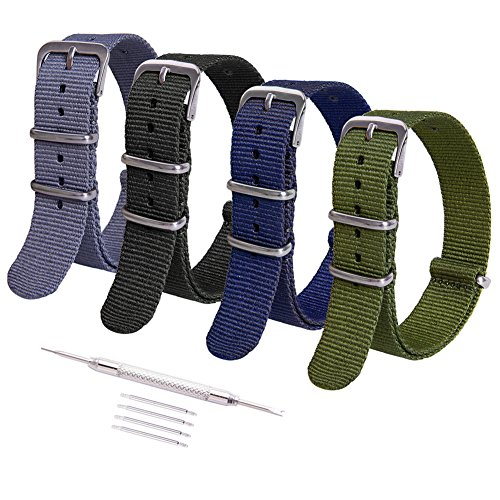 Ritche 18mm NATO Watch Straps,Nylon Replacement Men Women Bands