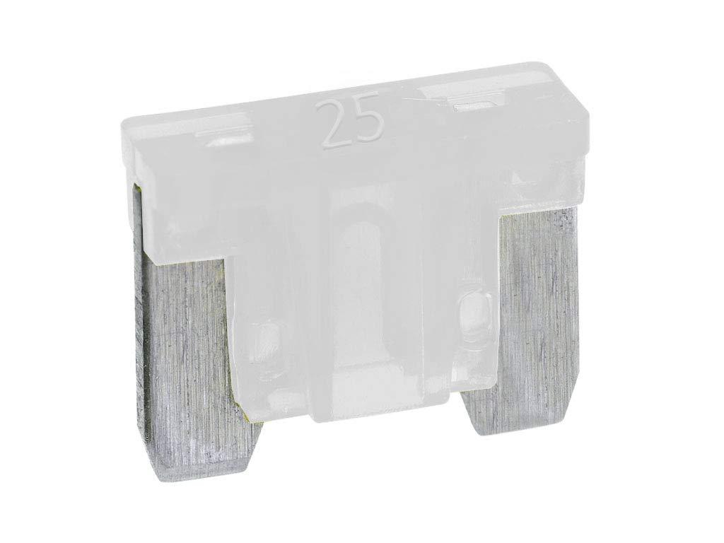 Boltstore Micro Blade Fuses Low Profile Mini Fuses12v Volt Car - 25A White 10 Fuses