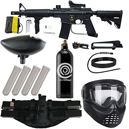 Action Village Tippmann US Army Alpha Elite Foxtrot Paintball Gun Package Kit ()