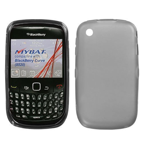 MyBat BlackBerry Curve 8520 / 8530 / 9300 / 9330 Candy Skin Cover (Rubberized) - Semi Transparent Smoke ()