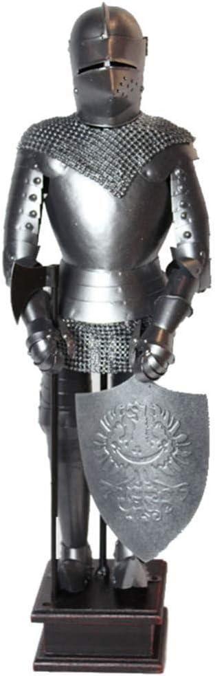 WCY Esculturas esculturas for el hogar Knight Armor Metal Modelo Estatua de la Escultura decoración del hogar Decoración de Escritorio yqaae