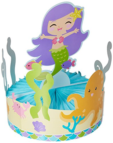 Centerpiece with Honeycomb Base, Mermaid (Friends Party Centerpiece)