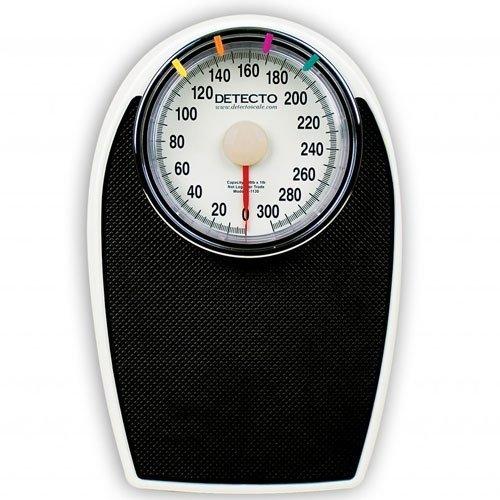 Detecto D1130 Bathroom Dial Scale - 300 lb X 1 lb Capacity by Detecto 300 Lb Dial Scale