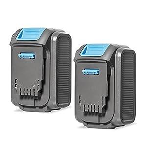 APEXPOWER 20V MAX 6.0Ah Lithium Ion Premium Battery Compatible with Dewalt DCB204 DCB205 DCB205-2 DCB200 DCB180 DCD985B DCD771C2 DCS355D1 DCD790B Dewalt 20V Battery (2 Pack)