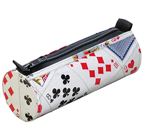 Pencil case made from playing cards - FREE SHIPPING, upcycled style eco friendly vegan recycled of repurposed school pen pouch bag gift gifts for girl boy teenager university student play card