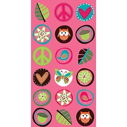 Amscan Hippie Chick Birthday Party Favor Paper Loot Bags (8 Pack),