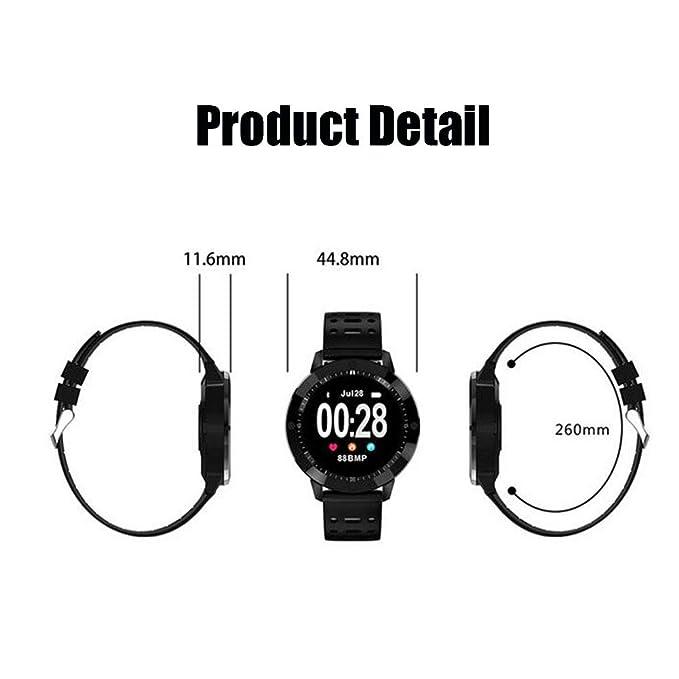 WANGXN Rastreador De Actividad Física Monitor De Frecuencia Cardíaca Rastreador De Actividad Reloj Inteligente Podómetro Pulsera Impermeable con Monitor De ...