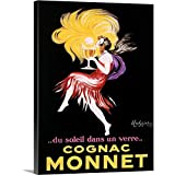 Canvas on Demand Premium Thick-Wrap Canvas Wall Art Print entitled Cognac Monnet Vintage Advertising Poster 18''x24''