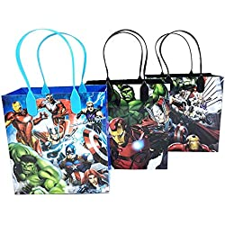 Avengers Characters 12 Premium Quality Party Favor Reusable Goodie Small Gift Bags