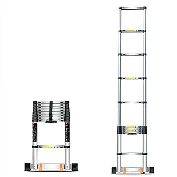 DD Escalera Telescópica, Escalera Plegable Hogar, Aleación Aluminio Contra La Pared. Escalera Recta, Levantando Escaleras, Escalera Ingenieria (Tamaño : Straight ladder 2m): Amazon.es: Bricolaje y herramientas