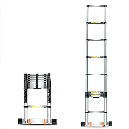 ZR- Escalera Telescópica, Escalera Plegable Hogar, Aleación Aluminio Contra La Pared. Escalera Recta, Levantando Escaleras, Escalera Ingenieria -Fácil de almacenar y fácil de llevar: Amazon.es: Hogar