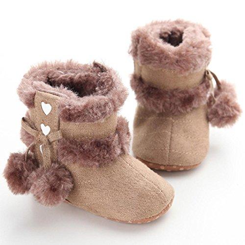 Hunpta Babyschuhe Mädchen Jungen Lauflernschuhe Baby Schneestiefel weiche Sohle weiche Krippe Schuhe Kleinkind Stiefel (12, Gelb) Khaki