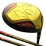 wazaki Japan Gold Finish Cyclone II Driver Golf Club+Headcover(10.5 Degree Loft,0 Degree Face Angle,Right Handed,Pro Regular Flex,260 CPM)