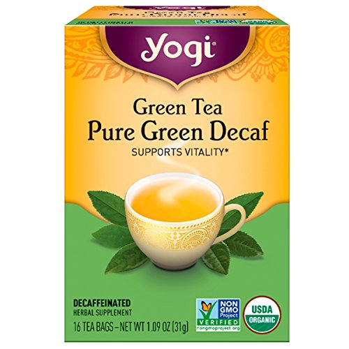 Yogi Tea Green Pure, Decaf, 16 Count