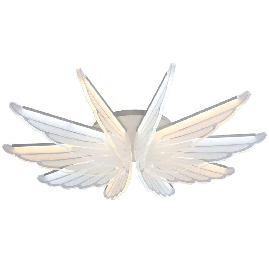 飛んでいる鳥は廊下のガレージの地下のポーチのための天井灯の簡単で現代的な極めて薄いランプを導きました(白色光/暖かい光) 55 cm White light B07T5XSCND