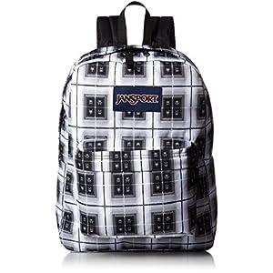 JanSport Superbreak Backpack- Sale Colors (Black Arcade Plaid)