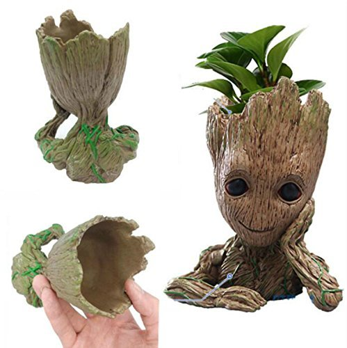 Funtoyworld Creative Groot Planter Pot Baby Groot Flowerpot Movie Tree Man Pen Container Guardians 2 Action Figures Toy Gift