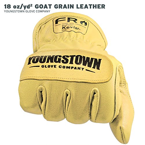 Youngstown Glove 12-3365-60-L FR Ground Glove Lined w/ Kevlar Performance Work Gloves, Large, Tan by Youngstown Glove Company (Image #3)