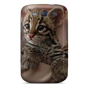 New Tiger Cub Tpu Case Cover, Anti-scratch AtUhe5553eFfbV Phone Case For Galaxy S3