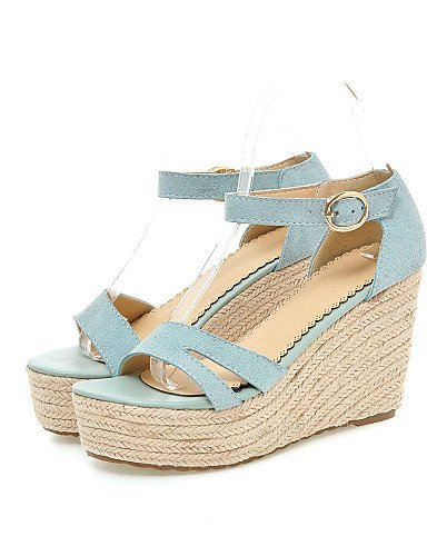ShangYi Womens Shoes Wedge Heel Wedges / Heels / Platform / Creepers Sandals Party & Evening / Dress / Blue