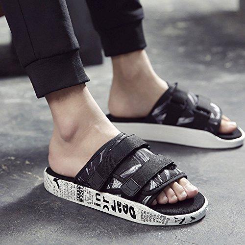 Slip Camouflage Men'S Men Sandals amp; Shoes Men'S Summer Flip Beach Flops Flip Sandals Sandals AIHUWAI Sandals and Slippers white Slippers Outdoor black Shoes Flops 7wqnf0pRx
